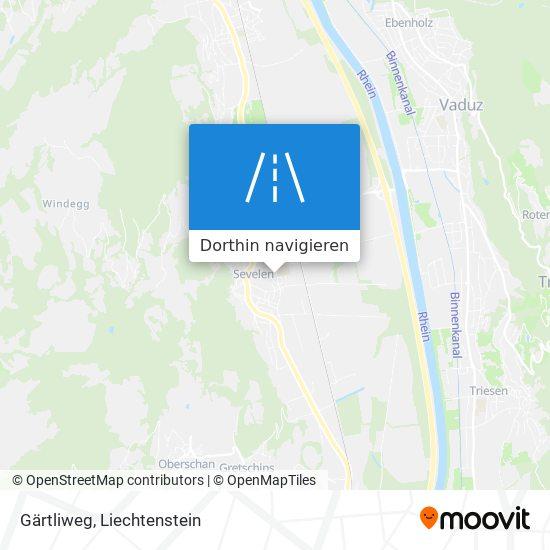 Gärtliweg Karte