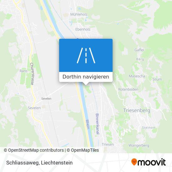 Schliassaweg Karte
