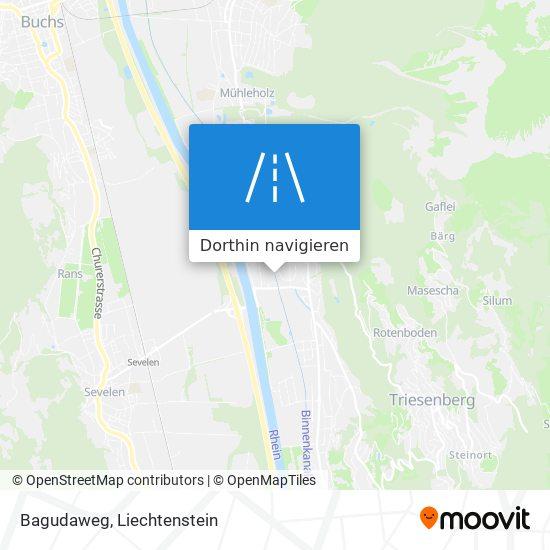 Bagudaweg Karte