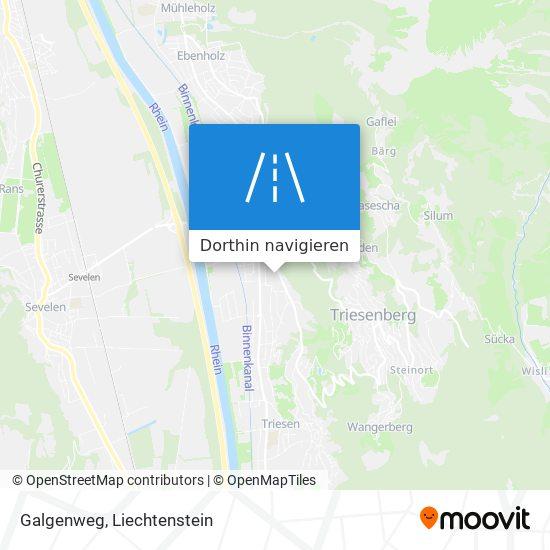 Galgenweg Karte