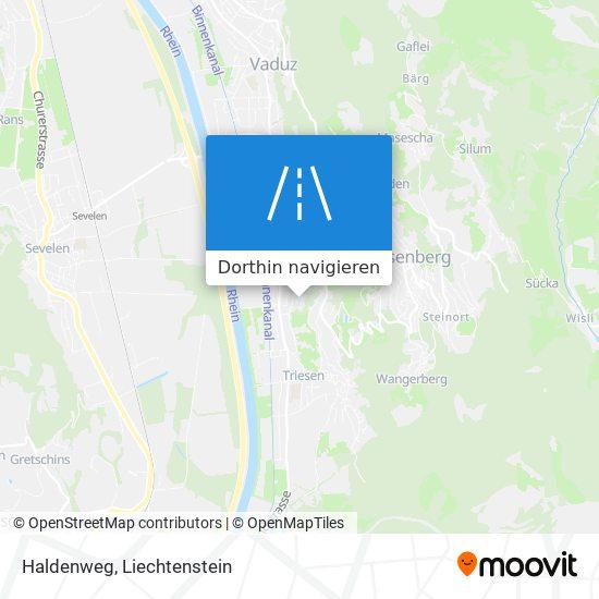 Haldenweg Karte
