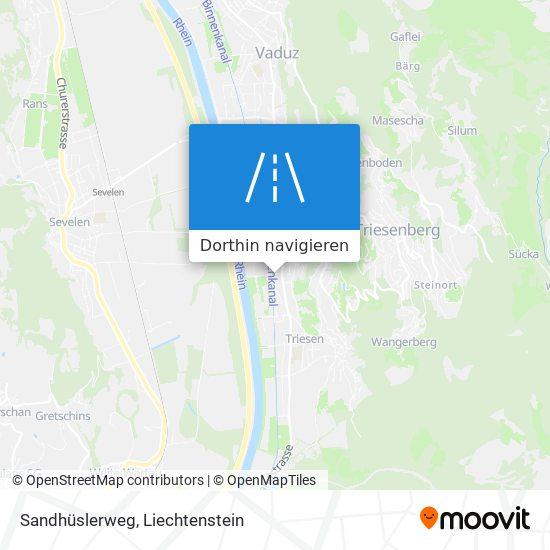 Sandhüslerweg Karte