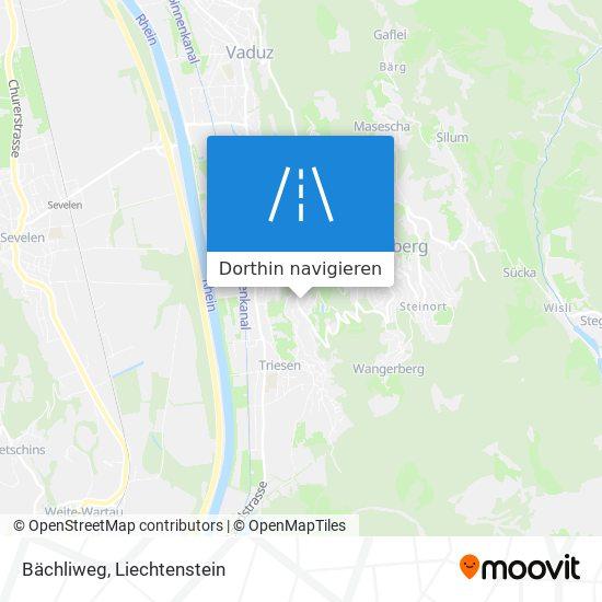 Bächliweg Karte