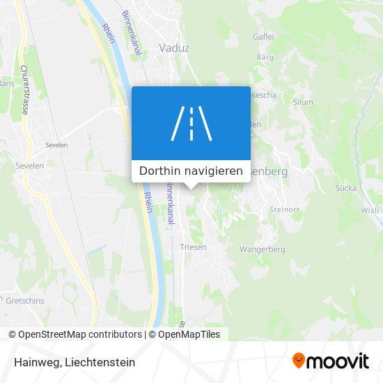 Hainweg Karte
