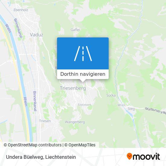 Undera Büelweg Karte