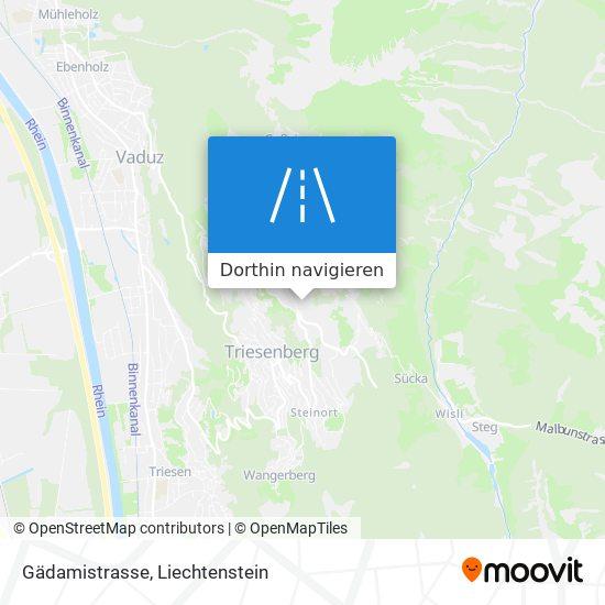 Gädamistrasse Karte