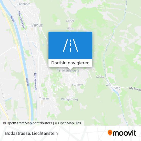 Bodastrasse Karte
