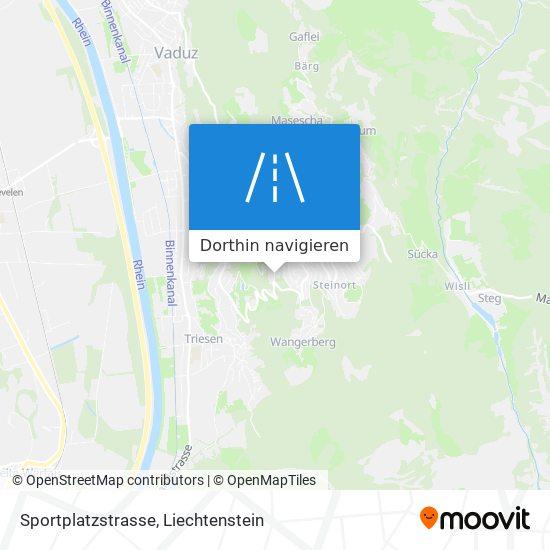 Sportplatzstrasse Karte