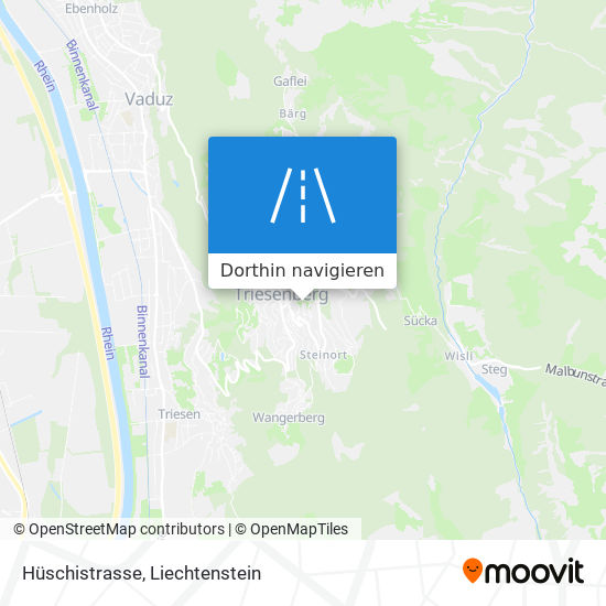 Hüschistrasse Karte