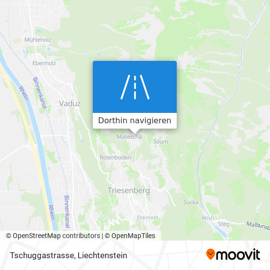 Tschuggastrasse Karte