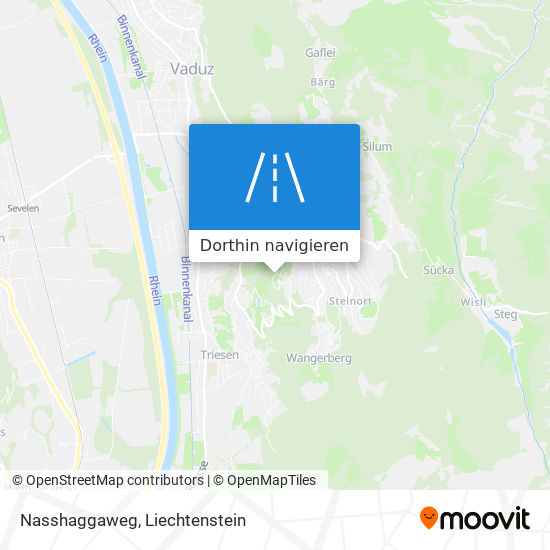 Nasshaggaweg Karte