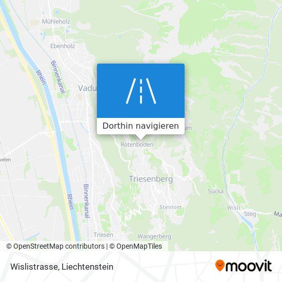 Wislistrasse Karte