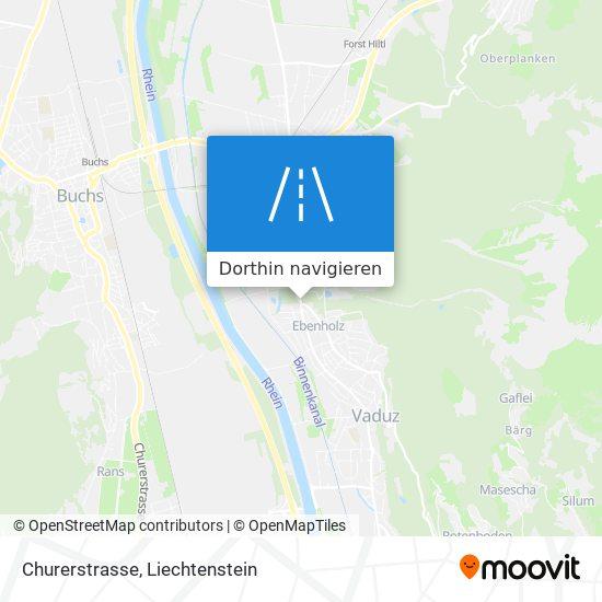 Churerstrasse Karte