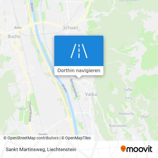 Sankt Martinsweg Karte