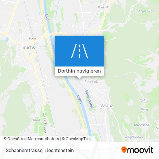 Schaanerstrasse Karte