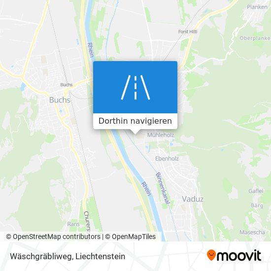Wäschgräbliweg Karte