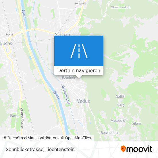 Sonnblickstrasse Karte