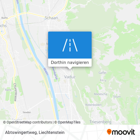 Abtswingertweg Karte