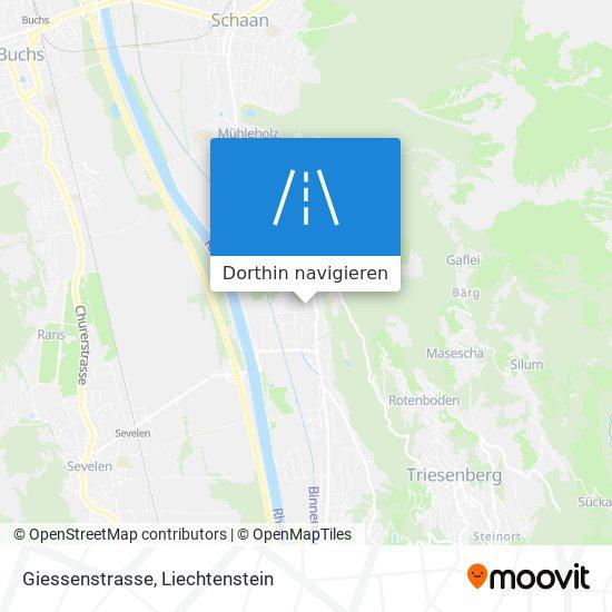 Giessenstrasse Karte