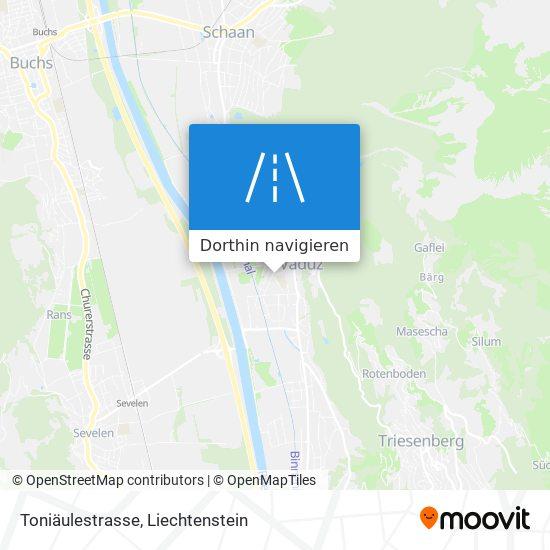Toniäulestrasse Karte
