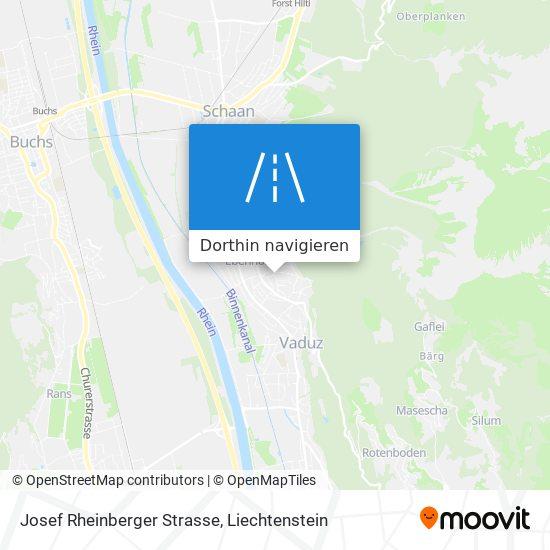 Josef Rheinberger Strasse Karte