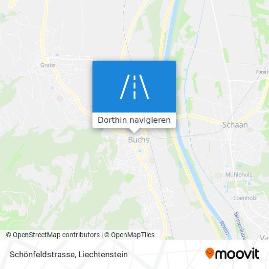 Schönfeldstrasse Karte