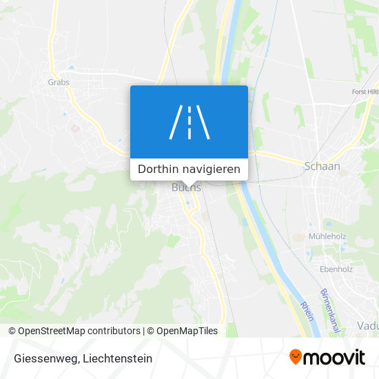 Giessenweg Karte