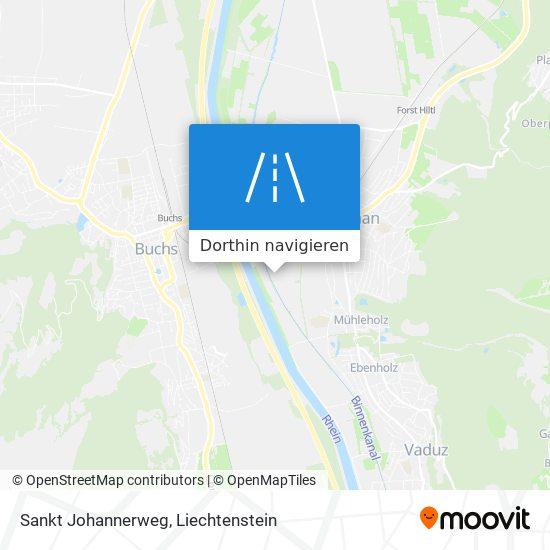 Sankt Johannerweg Karte