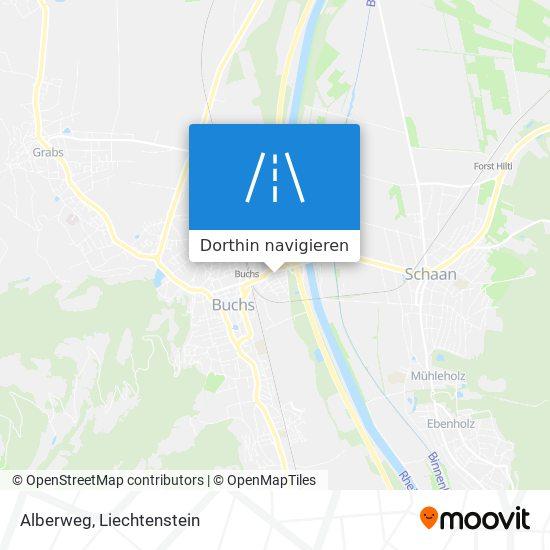 Alberweg Karte
