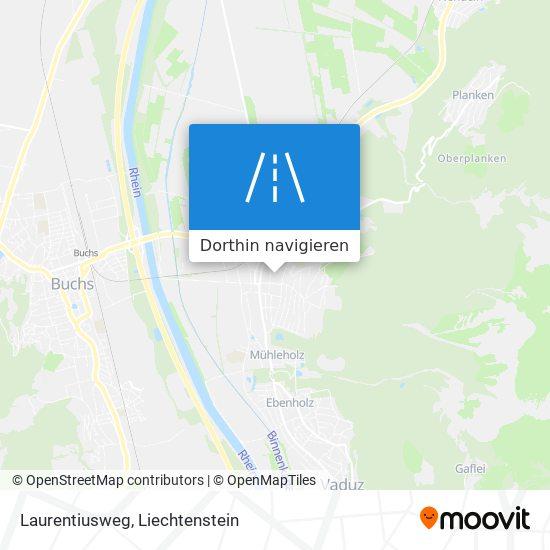 Laurentiusweg Karte