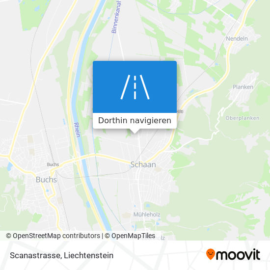 Scanastrasse Karte