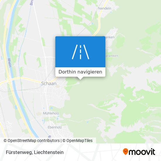 Fürstenweg Karte