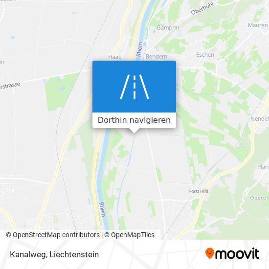 Kanalweg Karte