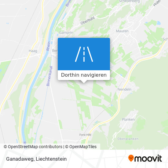 Ganadaweg Karte