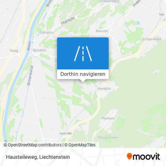 Hausteileweg Karte