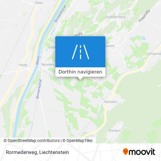 Rormederweg Karte