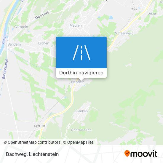 Bachweg Karte
