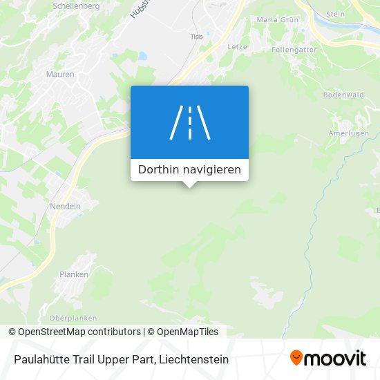 Paulahütte Trail Upper Part Karte