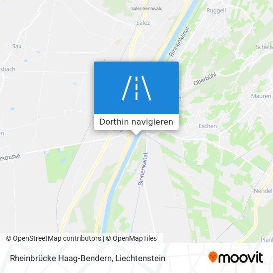 Rheinbrücke Haag-Bendern Karte
