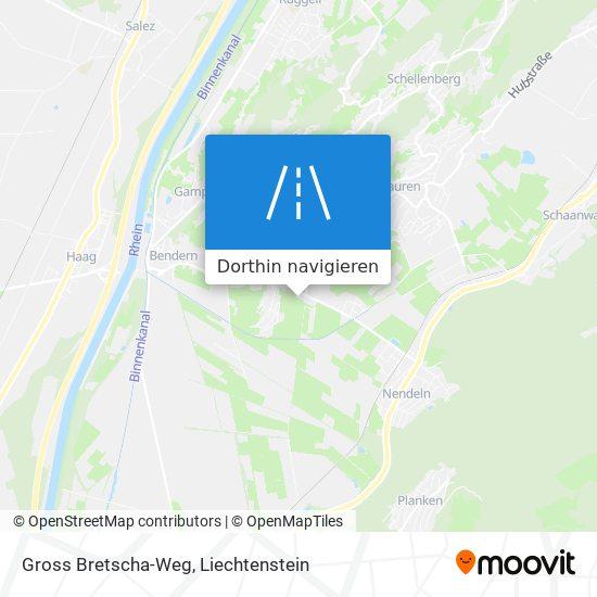 Gross Bretscha-Weg Karte