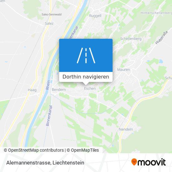 Alemannenstrasse Karte