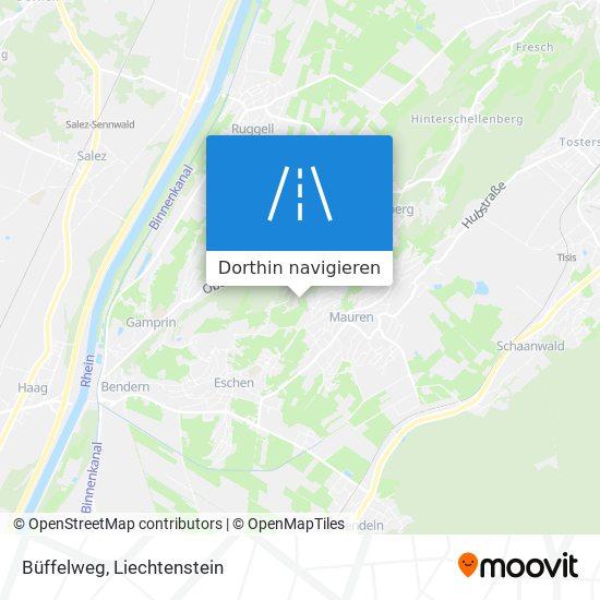 Büffelweg Karte