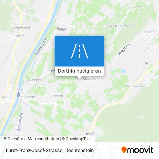 Fürst-Franz-Josef-Strasse Karte