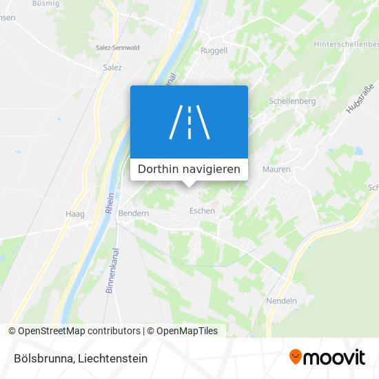Bölsbrunna Karte