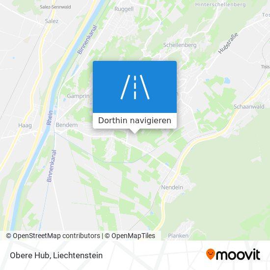 Obere Hub Karte