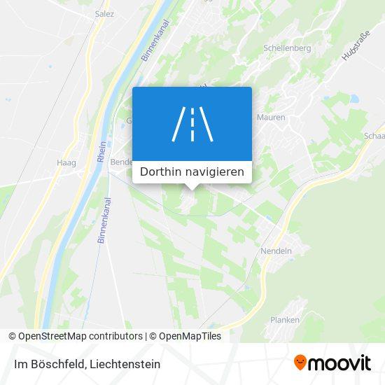 Im Böschfeld Karte