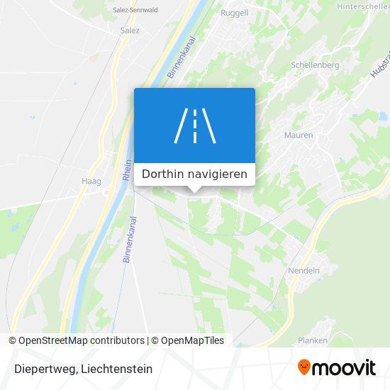 Diepertweg Karte