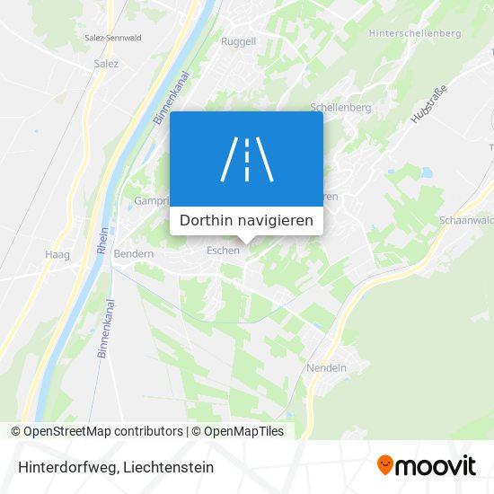 Hinterdorfweg Karte