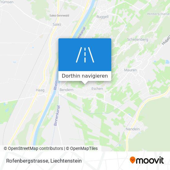 Rofenbergstrasse Karte