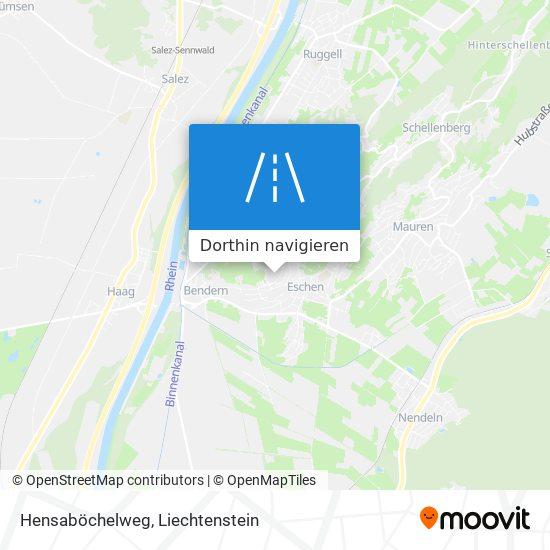 Hensaböchelweg Karte